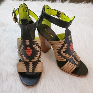 Coach Lorrie 8.5 Huarache Style Strappy Sandals